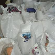 Volunteer A J Salim: Packed and ready to be distributed